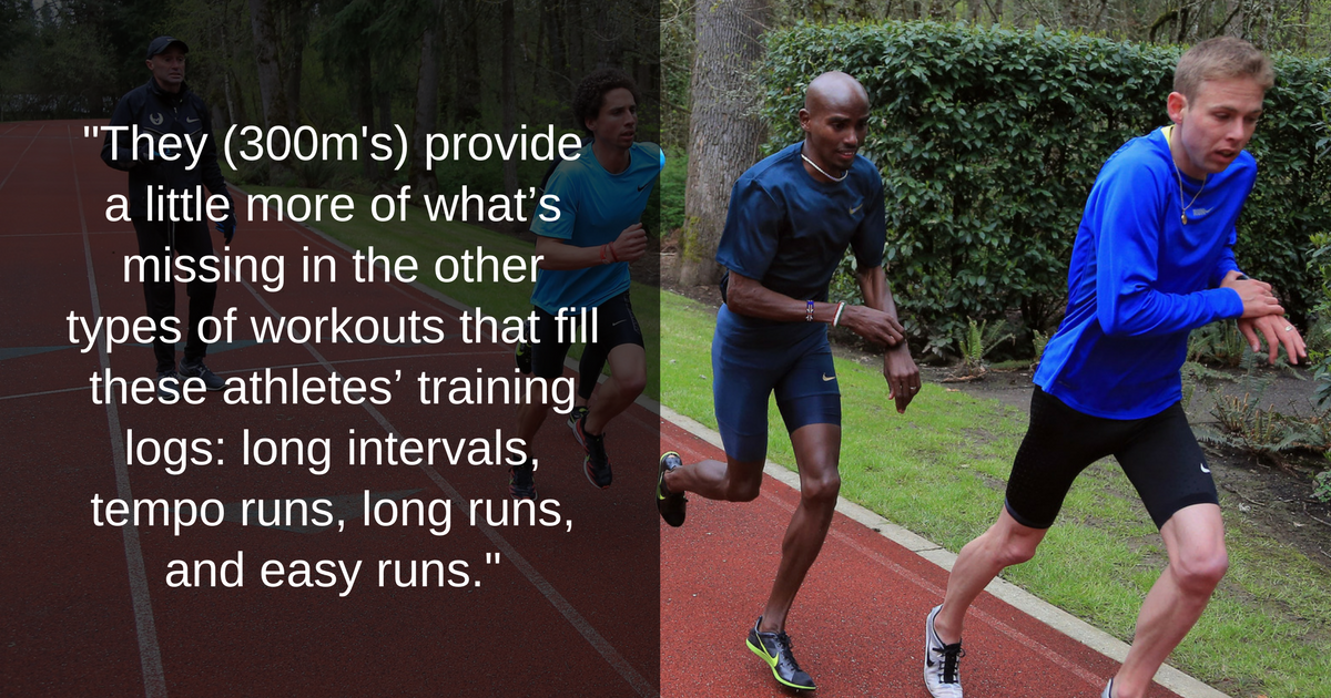 300m Repeats: Mo Farah's Training Group - Sweat Elite