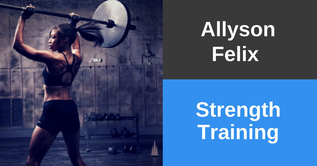 Allyson Felix Training - Strength Routine (from 125lbs