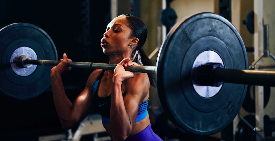 Allyson Felix Training - Strength Routine (from 125lbs deadlift, to